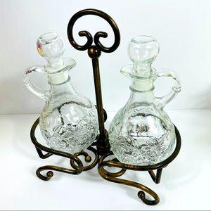 Princess House Oil Vinegar Glassware Set NEW